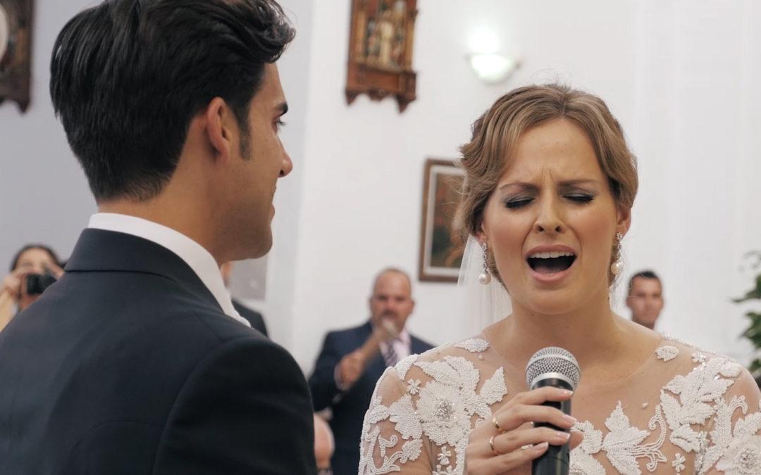 Emocionante, la voz de una novia ante el altar